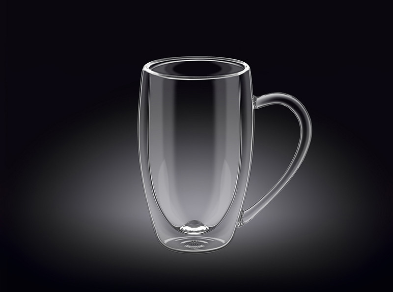 Прозора чашка з подвійним дном Wilmax Thermo 250мл