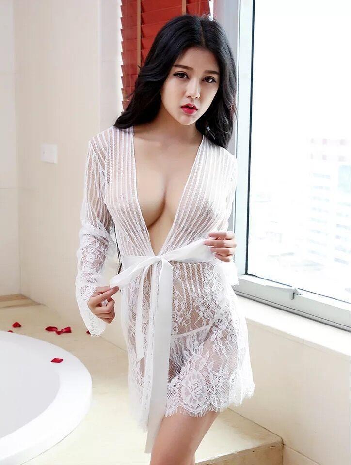 Жіночий мереживний халат сексуальный халатик