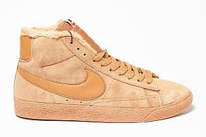 Кроссовки мужские зимние Nike Blazer Brown