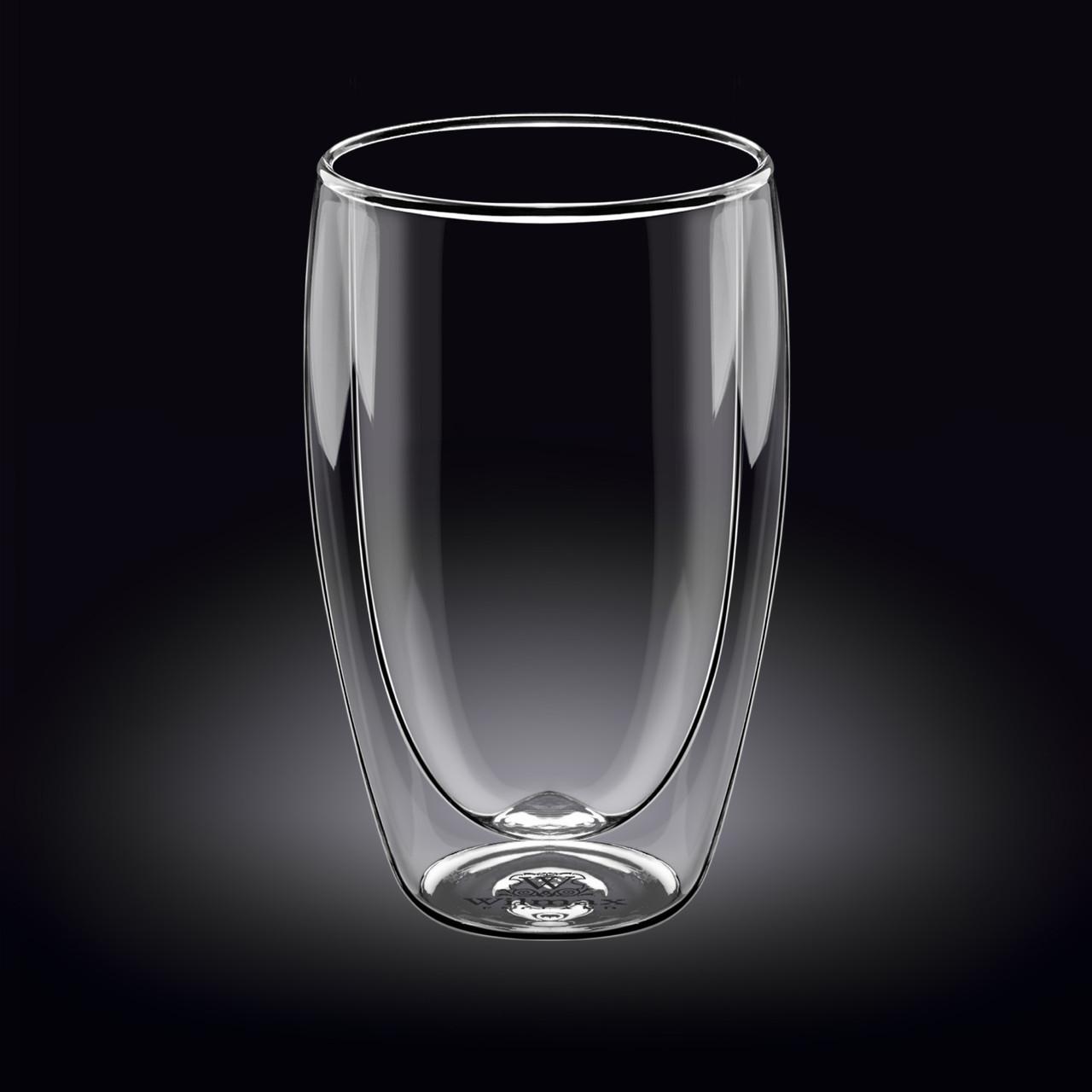 Высокий стакан с двойными стенками Wilmax Thermo 500мл