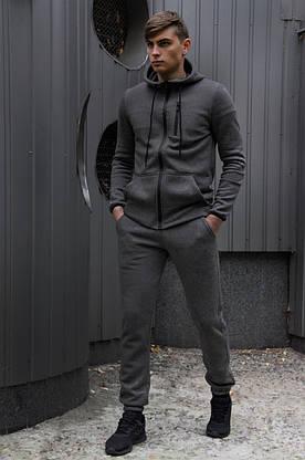 Спортивный костюм Spirited Hot Intruder Grey - утепленный флисом + ключница в подарок, фото 2