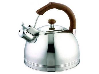 Чайник для плиты с коричневой ручкой Bohmann 4л