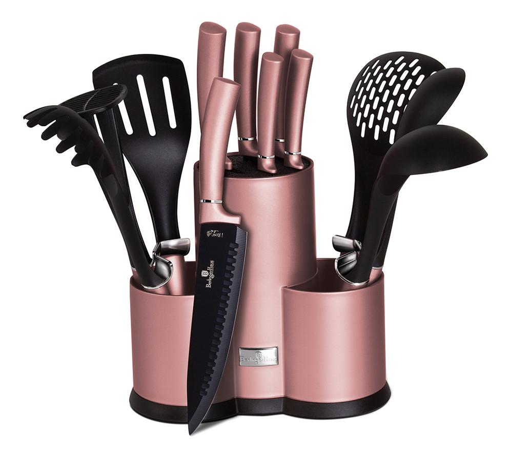 Набор ножей с принадлежностями Berlinger Haus I-Rose 12пр