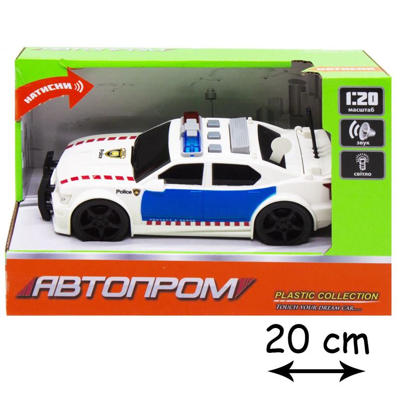 Игрушка полицейская машинка Автопром, свет, звук 7917AB