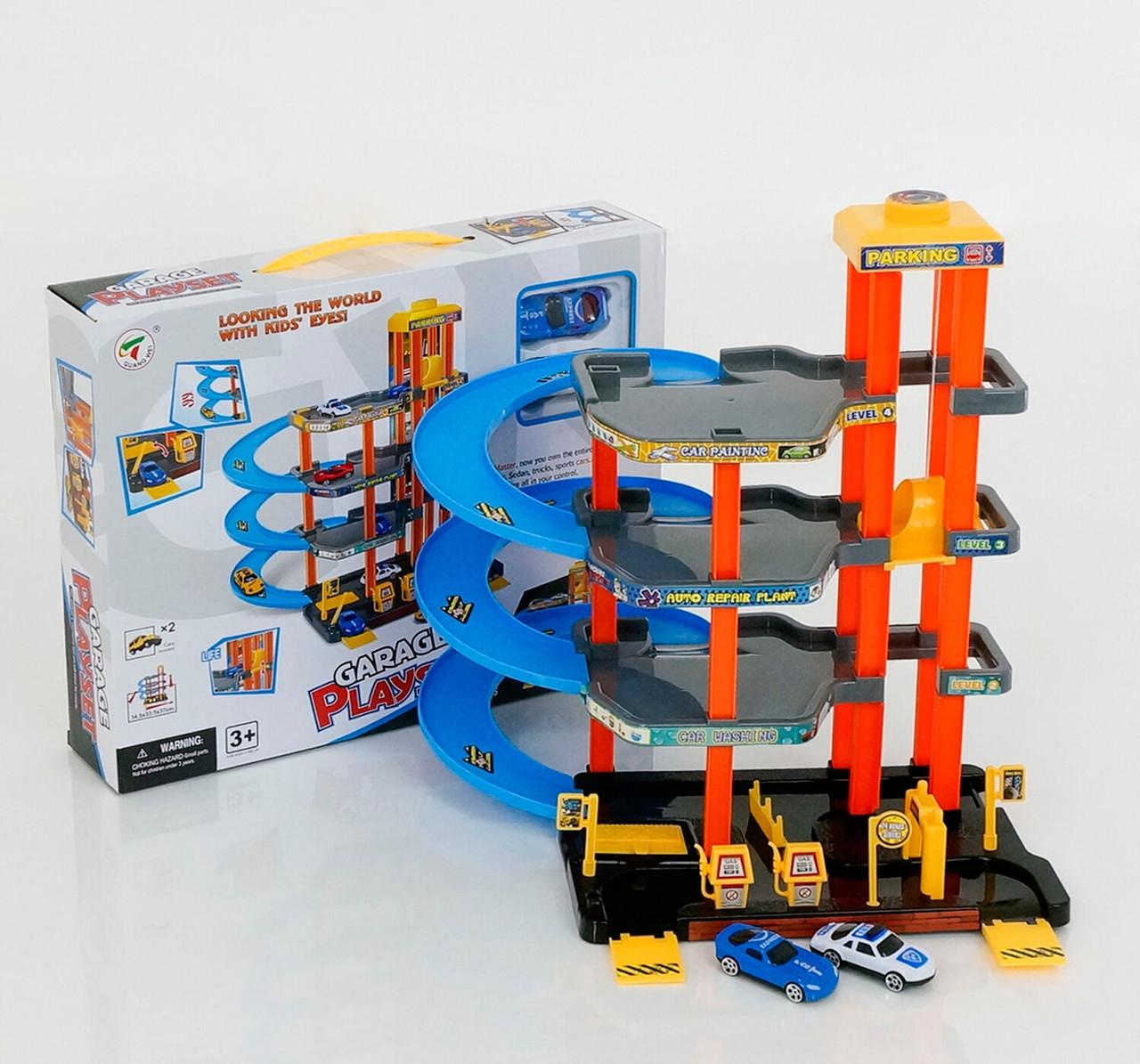 Игровой набор для машинок с лифтом Гараж парковка 7688
