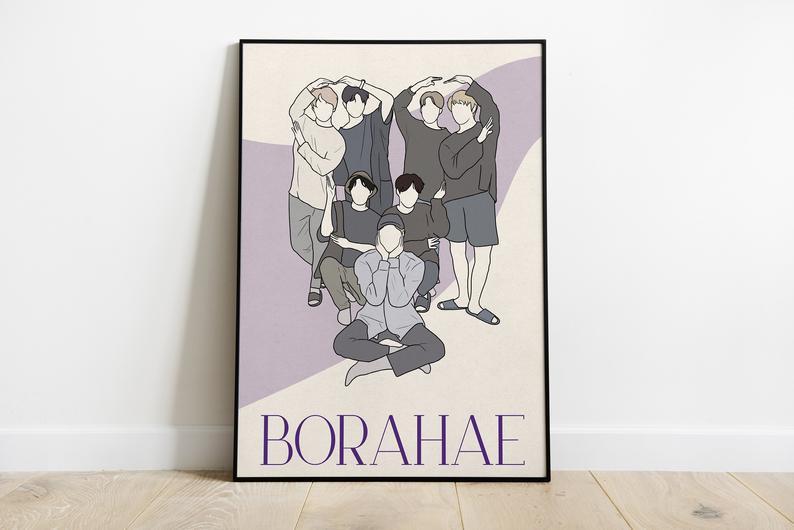 Постер BTS Borahae БТС формат А3