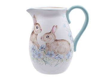 Великий глечик Пасхальні кролики 4.4л