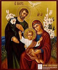 Картины по номерам - Икона Иисус, Мария, Йосиф | Riviera Blanca™ 40х50 см. | RBI-004