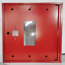 Бокс пожарный без задней стенки красный 600х600х230. Корпус металлический. BOX без задней крышки, фото 2