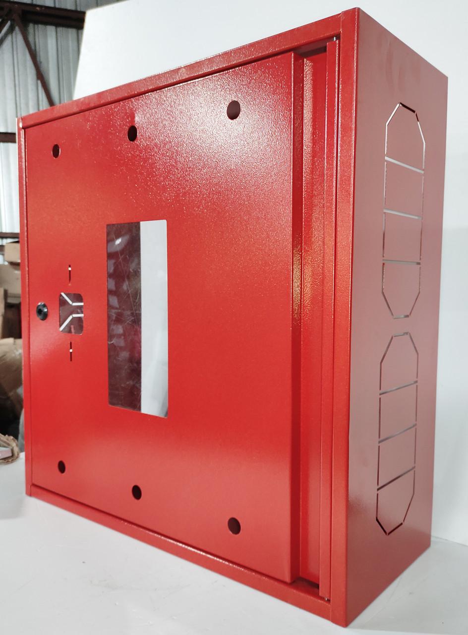 Бокс пожарный без задней стенки красный 600х600х230. Корпус металлический. BOX без задней крышки