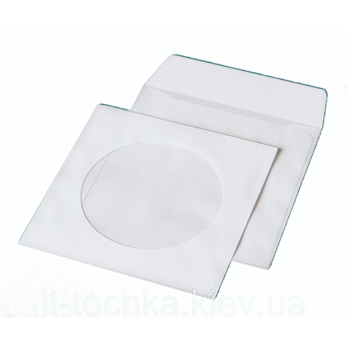Конверт для cd (124х124мм) белый НК с окном (термоупаковка) 6108_50