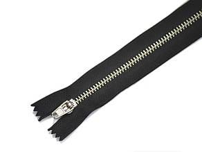 Zipper Металлическая молния, Джинсовая, никель,черн.18см