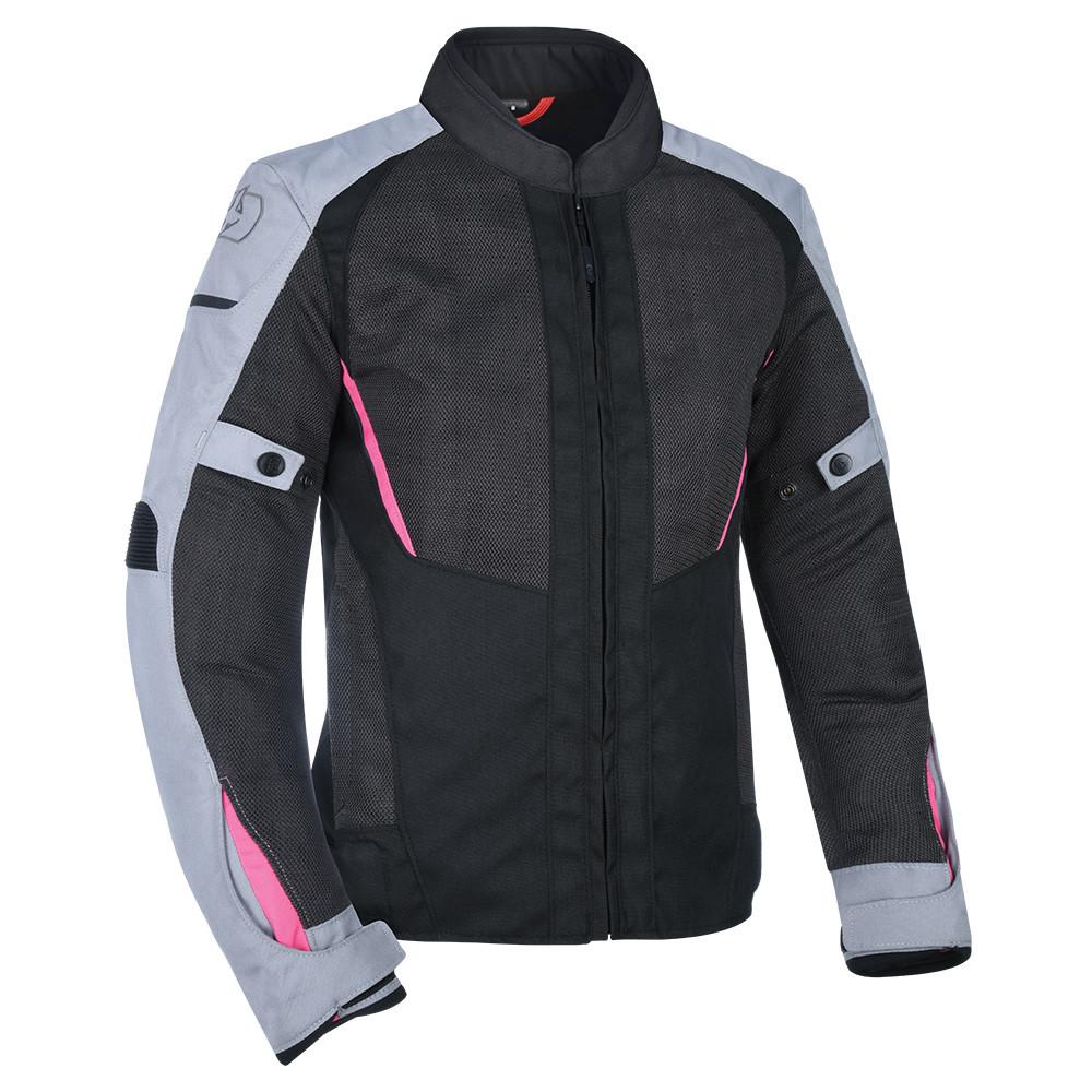 Мотокуртка текстильная Oxford Iota 1.0 WS Air Jkt черный/серый/розовый, 12