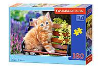 """Пазлы Castorland """"Рыжий котенок"""" - 180 элементов."""