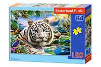 "Пазлы Castorland ""Белый тигр"" - 180 элементов."
