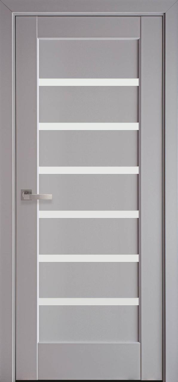 Двері міжкімнатні Новий стиль модель Лінея скло сатин