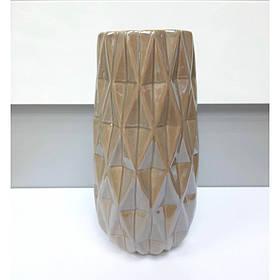 Ваза керамическая Eszter 21 см кофейный перламутр BonaDi 795-428