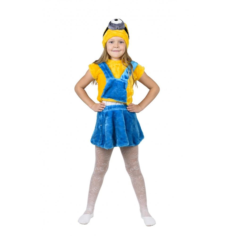 Детский карнавальный костюм Миньона для девочки.