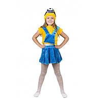 Детский карнавальный костюм Миньона для девочки., фото 1
