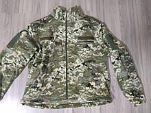 Военная флисовая кофта (пиксель) - размер 60. Кофта на замке с липучками