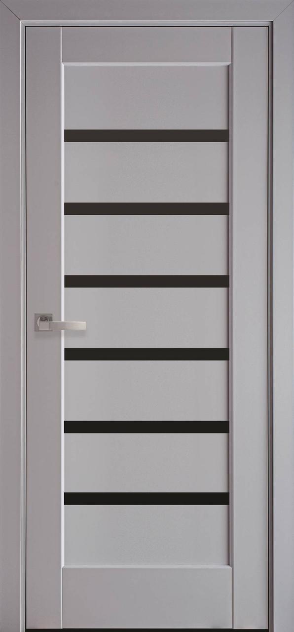 Двері міжкімнатні Новий стиль модель Лінея скло чорне