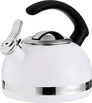 Чайник KitchenAid KTEN20CWH 2.0-Quart Kettle with C Handle and Trim Band - White