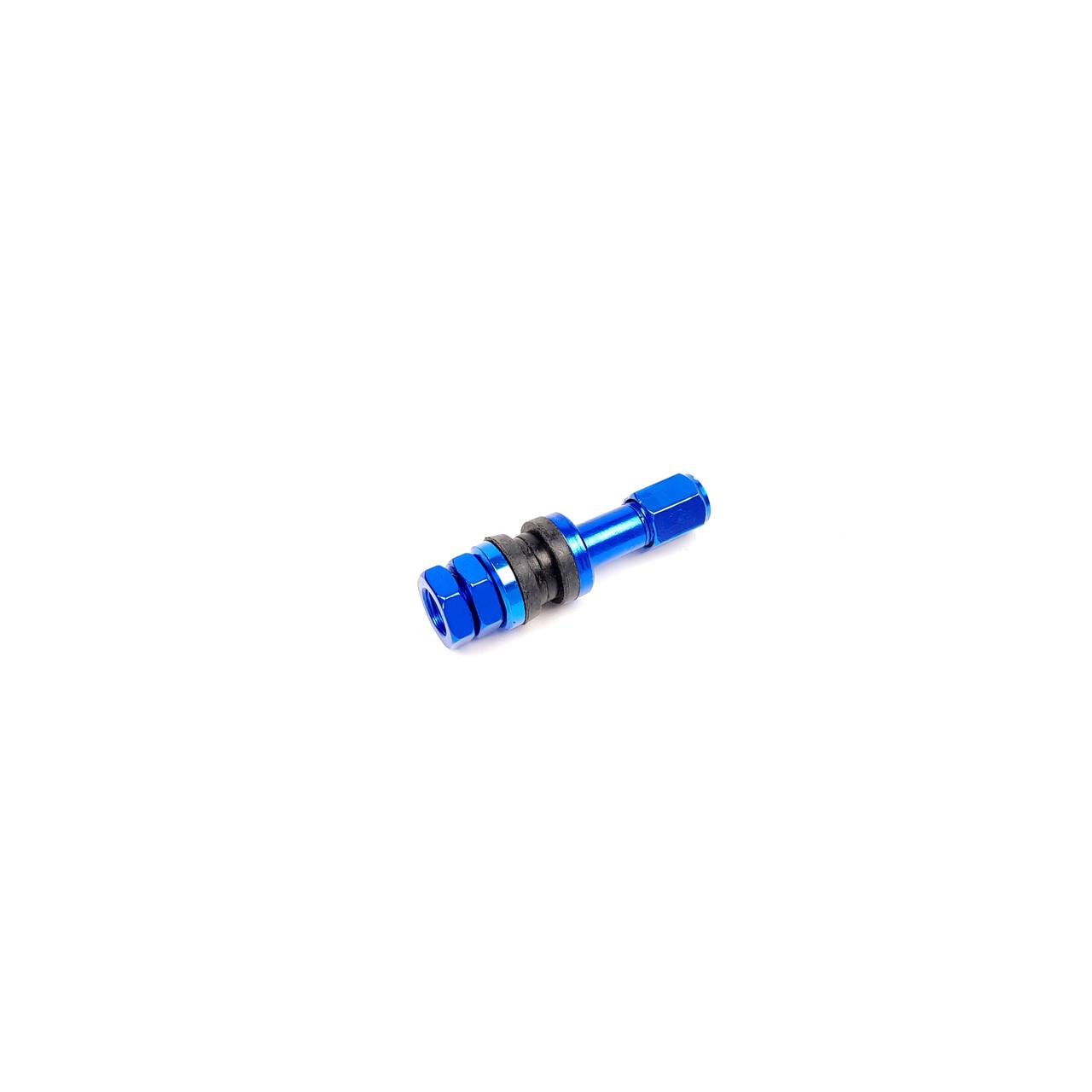 Ниппель-вентиль колеса стайлинговый прямой, синий