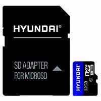Карта памяти Hyundai microSDHC 32GB Class 10 UHS-I U1 + SD-адаптер (SDC32GU1)