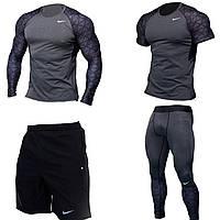 Компрессионная одежда Комплект Nike 4 в 1 (рашгард+футболка+шорты+легинсы)