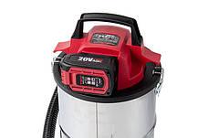 Строительный пылесос аккумуляторный Worcraft CAVC-S18Li с АКБ (4А) и ЗУ, промышленный пылесос, фото 3