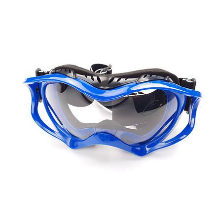 Очки кроссовые (mod:MJ-11, синие с прозрачным стеклом), фото 2