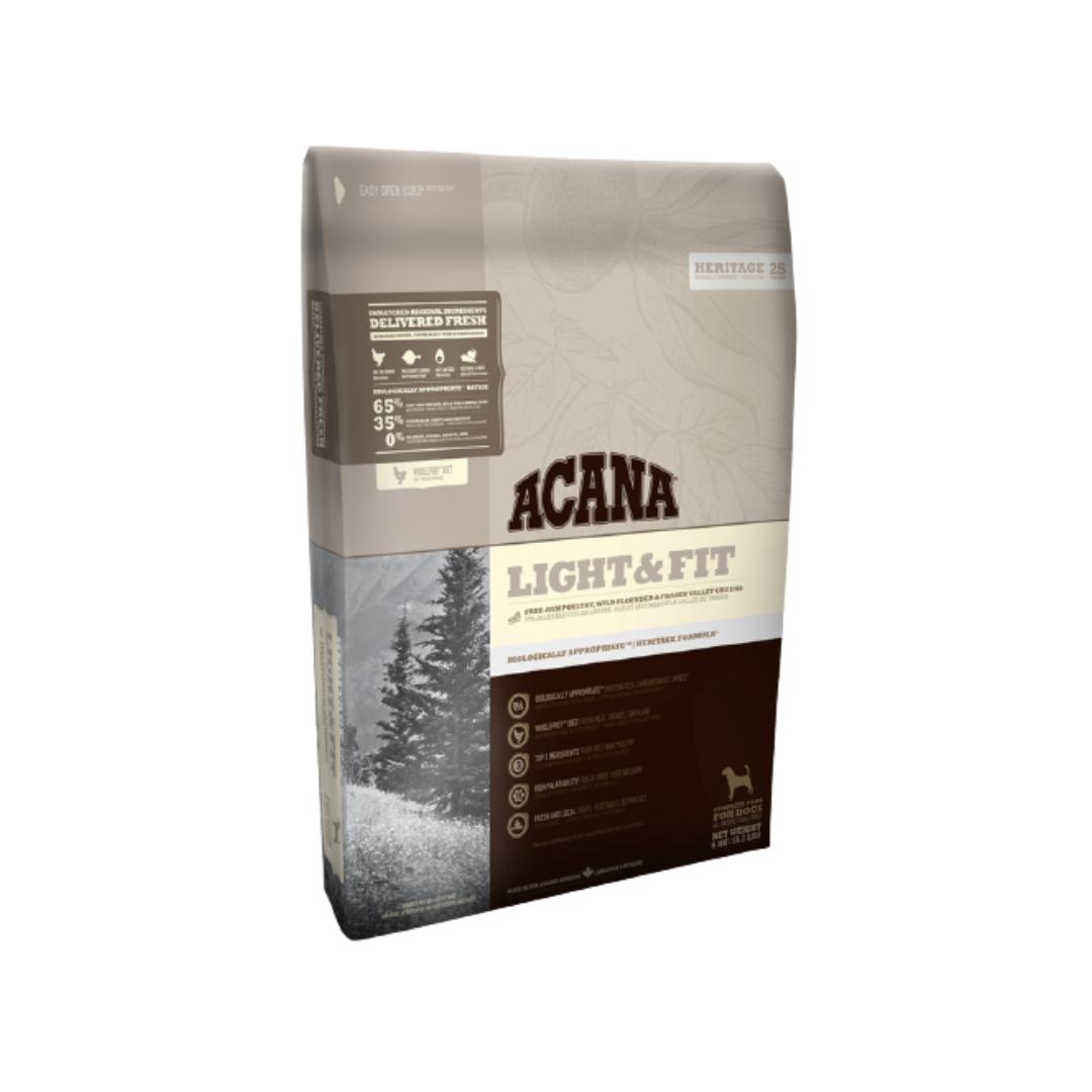 Корм Acana Light & Fit Акана для дорослих собак з надмірною вагою курка і камбала 11,4 кг | 6 кг | 2