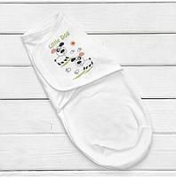 Пеленка кокон для новорожденного теплая, европеленка, футер с начесом до 62 см