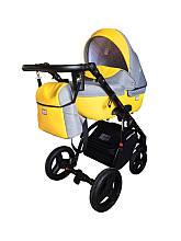 Универсальная коляска Ajax Group AMMI  (эко-кожа/хлопок  цвета) Польша Желтый
