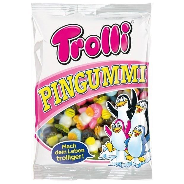 Желейные конфеты Trolli Pingummi пингвины Без глютена 200 г Германия