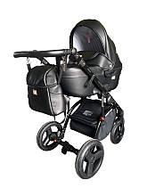 Универсальная коляска Ajax Group AMMI  (эко-кожа/хлопок  цвета) Польша черный