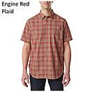 Оригинал Рубашка 5.11 HUNTER PLAID SHORT SLEEVE SHIRT, 71374 Medium, Battleship Plaid, фото 4