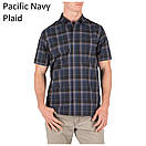Оригинал Рубашка 5.11 HUNTER PLAID SHORT SLEEVE SHIRT, 71374 Medium, Battleship Plaid, фото 6