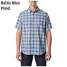 Оригинал Рубашка 5.11 HUNTER PLAID SHORT SLEEVE SHIRT, 71374 Medium, Battleship Plaid, фото 7