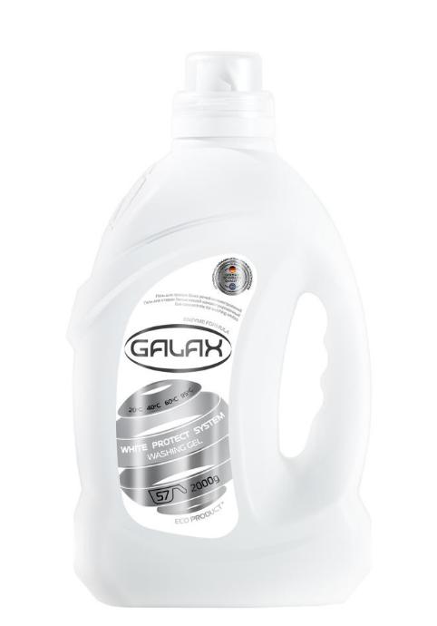 Гель для стирки Galax для белых вещей 57 стирок 2л
