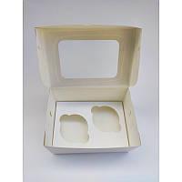 Коробка на 2 капкейка с окошком, 160*110*85