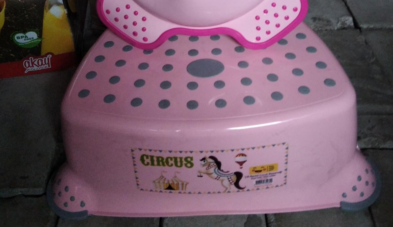 Підставка під унітаз умивальник табурет дитячий підніжка, сходинка для умивальника рожевий