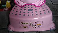 Підставка під унітаз умивальник табурет дитячий підніжка, сходинка для умивальника рожевий, фото 1