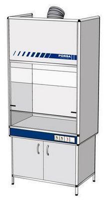 Шкаф вытяжной с вентилируемой нижней тумбой ВШ-1.1в (1000x650x2200)