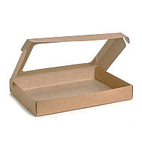 Упаковка для пряников и макарон, крафт 220*150*30