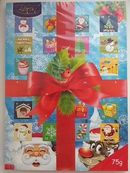 Адвент календарь шоколадный Baron 75 г Польша