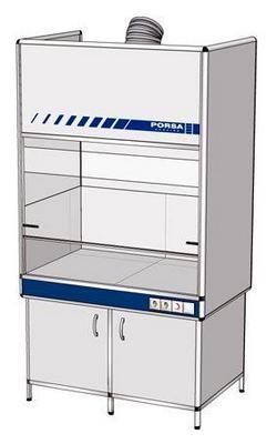 Шкаф вытяжной для муфельной печи ВШ -1.1м (1200x800x2200)