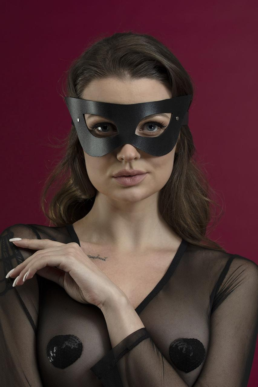 Маска на лицо Feral Feelings - Mistery Mask, натуральная кожа, черная