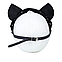 Премиум маска кошечки LOVECRAFT, натуральная кожа, черная, подарочная упаковка, фото 5