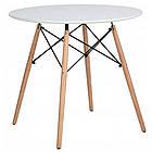 Столик кухонний обідній Bonro В-957-600 60х72 см круглий стіл для кухні, фото 3